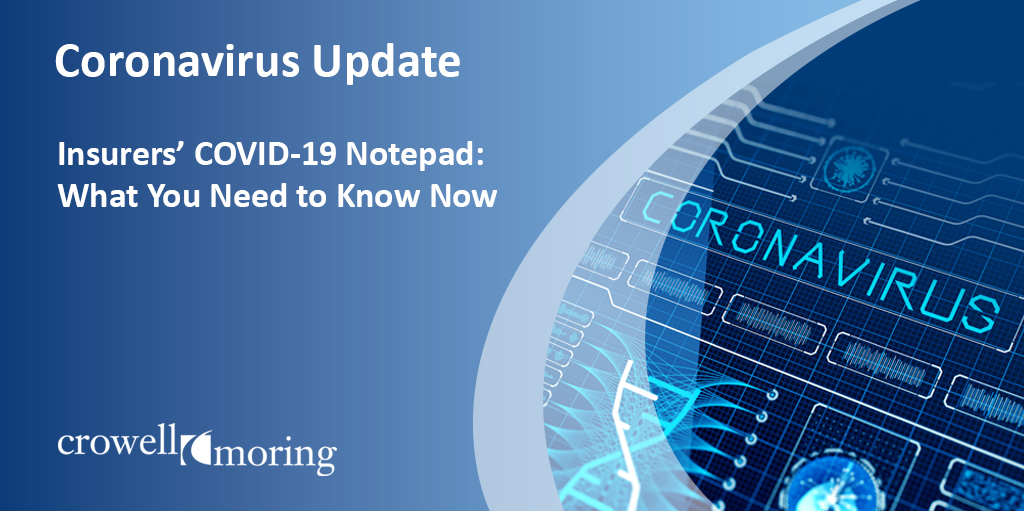 Insurers' COVID-19 Notepad: What You Need to Know Now (Week of September 14)